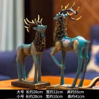 鹿摆件北欧式家居家装饰品客厅新婚结婚礼物酒柜创意电视柜