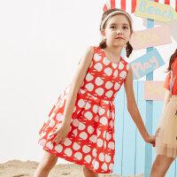 【1件2.5折到手价:74.8】moomoo童装迪士尼女童梭织连衣裙