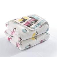 三/六�蛹�布毛巾被�和�毛毯 沙�l空�{毯夏季薄款�稳穗p人毯子