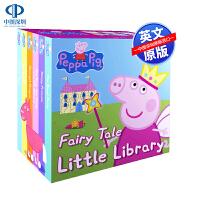 英文原版 小猪佩奇粉红猪小妹6册纸板书 Peppa Pig Fairy Tale Little Library 童话小小