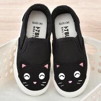 儿童帆布鞋女童布鞋卡通童鞋女2018春季新款男童休闲板鞋宝宝鞋子