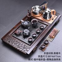 整块整版木实木茶盘茶台紫砂功夫茶海茶具套装家用 20件