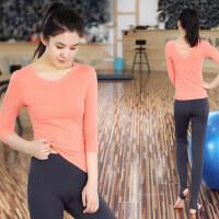 韩版跳操跑步运动裤女士显瘦瑜珈衣 新款速干健身房服女士露背瑜伽服套装女