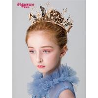女孩皇冠发饰头花儿童演出配饰女童头饰蝴蝶花朵发箍公主花环
