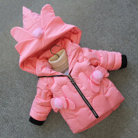 女童棉衣2018新款冬装洋气滑雪服儿童棉袄宝宝面包服5加厚外套3-7