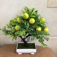 办公室客厅塑料花假花摆件装饰餐桌卧室摆放花卉仿真花小盆栽果树
