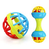 手摇铃玩具婴儿童0-1岁宝宝手抓可咬软胶男孩女孩3-6-12个月8 【件】摇铃件+小熊+汽车+不倒翁+声光球+曼
