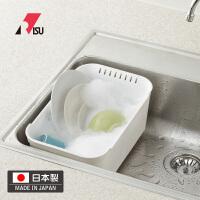 RISU日本进口厨房洗碗盆洗菜盆 大容量溢水排水栓果蔬多用盆水盆