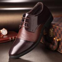 尖头皮鞋男工作鞋新款男鞋子男士商务正装潮流皮鞋男尖头透气系带低帮鞋黑0064ZL