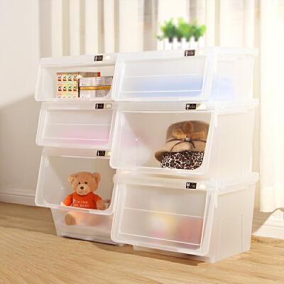 前开式天马株式会社河马口收纳箱组合衣柜塑料储物箱衣物玩具整理箱特大号