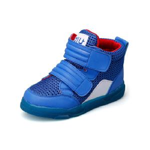 比比我2017秋季新款男童童鞋网面透气高帮儿童休闲鞋时装鞋韩版百搭女童鞋