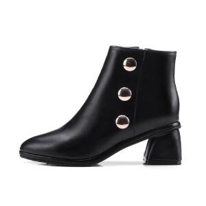 WARORWAR法国新品YG08-763冬季欧美酒杯跟中跟女士靴子切尔西靴短靴