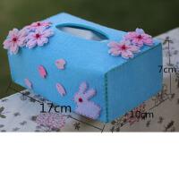 纸抽盒樱花纸巾抽 免裁剪不织布手工diy布艺材料包