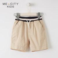 【1件2.5折到手价:42.3】米喜迪mecity童装夏装新款男童中短裤撞色罗纹腰头五分裤男童潮