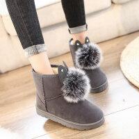 雪地靴女冬韩版百搭棉鞋短筒靴学生加厚加绒保暖防滑短靴