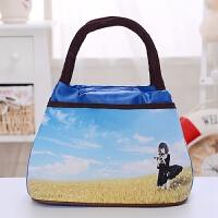 小手提包新款潮流女士布包休闲女包手拎包饭盒包