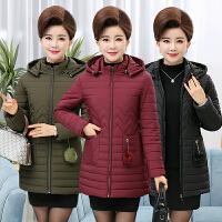 中老年棉衣女40-50岁中年女装冬装中长款羽绒服外套妈妈装棉袄女