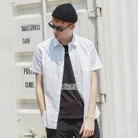 【1件2折到手价:27.2】美特斯邦威衬衫男夏季新款韩版百搭舒适牛津纺休闲短袖衬衫