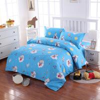 小猪佩琪棉四件套1.8米儿童床品学生全棉床单被套枕套三件套1.2