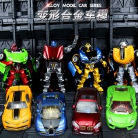 儿童玩具大黄蜂机器人小男孩 合金变形玩具合体金刚小汽车人