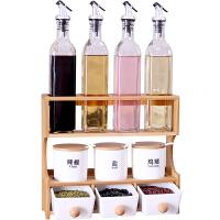 陶瓷调味罐套装家用组合装带抽屉三层油盐酱醋瓶调味料收纳置物架