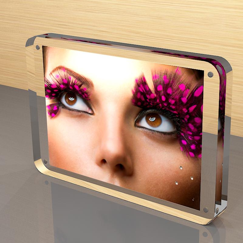 亚克力相框创意双面透明A4证书奖状框照片摆台相框