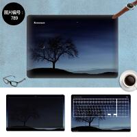 戴尔E7450 N4110 14R-5420笔记本电脑外壳贴膜贴纸15寸14免裁剪 SC-789 三面+键盘贴