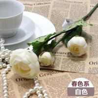 仿真花茶玫�花假花婚�c�b�花 客�d�b�花餐桌花� 3�^小茶花