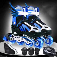 【每满100减50】征伐 溜冰鞋 八轮闪光直排轮滑鞋青少年儿童成人男女旱冰鞋可调滑轮鞋套装