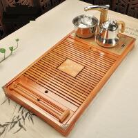 【支持礼品卡】全自动四合一家用茶盘实木功夫茶台储水竹木茶托盘电热磁炉 jm1