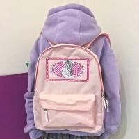 日系软妹刺绣少女心双肩包可爱书包女韩版原宿大容量高中学生背包