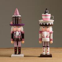 美式复古创意卡通人物胡桃夹子士兵木偶儿童玩具礼物桌面装饰摆件