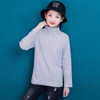 女童T恤洋气韩版2018秋装新款12-15岁女大童长袖上衣打底衫百搭13