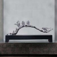 新中式禅意摆件创意书房办公室摆件家居装饰工艺品