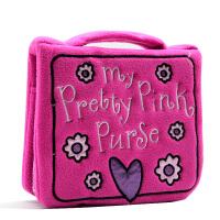 【满300-100】我的可爱粉色小手包 英文原版绘本My Pretty Pink Purse 布书 亲子韵文 儿童启蒙图