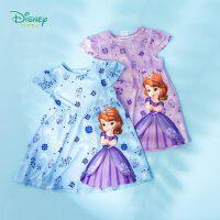 【3件3折到手价:51.3】迪士尼Disney童装 夏季双色可选女童宝宝新款公主系列甜美短袖连衣裙