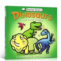 【全店300减100】英文原版Basher Basics: Dinosaurs 恐龙:光秃秃的骨头儿童恐龙百科科普认知图