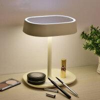 LED化妆镜台式台灯镜子可爱个性女小夜灯现代简约多功能触摸台灯