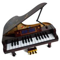 ?迷你摆件 婴幼儿童乐器音乐玩具 仿真钢琴可弹奏音乐盒礼物