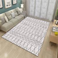 地毯客厅茶几简豪装四季薄款短毛卧室床边房间地毯垫现代中北欧式