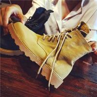 秋季新款马丁靴女靴英伦风学生韩版百搭机车靴沙漠靴短靴子