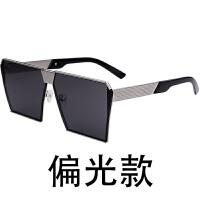 2018新款太阳镜女士镜潮明星款墨镜男韩国个性圆脸大四方眼镜