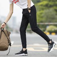 夏季九分裤男裤子韩版潮流休闲裤男松紧腰束脚裤小腿哈伦裤9分裤