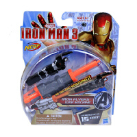 孩之宝漫威 英雄复仇者联盟iron man钢铁侠飞行者发射器 儿童玩具枪 钢铁飞行者A1736