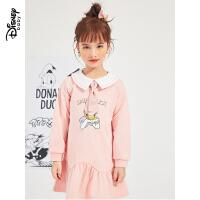 超品返�觥�4折�A估�r:81.7元】迪士尼女童�t色�B衣裙2021春�b新款�和�洋�獍菽攴�公主裙子