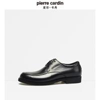 皮尔卡丹秋冬新年新款户外皮鞋舒适系带牛皮鞋品牌商务男士皮鞋