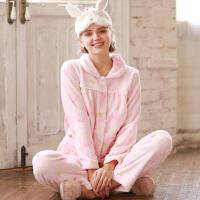 保暖加绒秋冬珊瑚绒月子服产妇哺乳衣家居服孕妇睡衣冬季厚