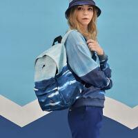 YIZISTORE风景印花双肩包男女大容量休闲背包学生高中书包电脑包
