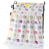 纱布浴巾婴儿浴巾可爱抹胸浴巾毛巾 米白色 七彩蘑菇浴巾 140x70cm