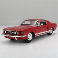 原厂1:24 1967福特野马GT跑车模型仿真合金汽车模型摆件 红色079